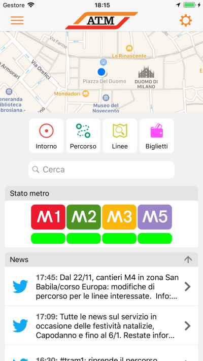ATM Milano Official App (Android) screenshot 1